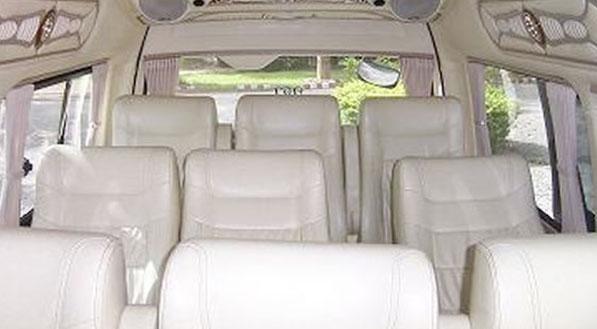 interior of a minibus